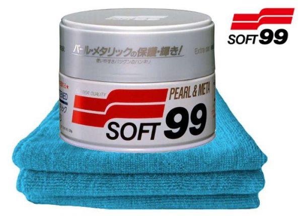 SOFT99 NEW Pearl & Metallic Wax - twardy, naturalny wosk do lakieru