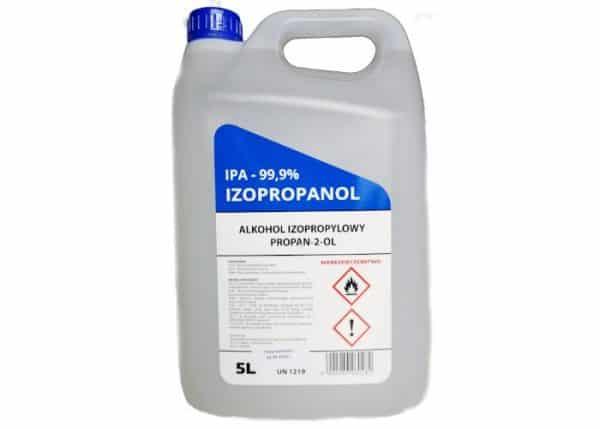 IPA Alkohol izopropylowy 99,9% - silnie czyszczący i odtłuszczający środek 5L