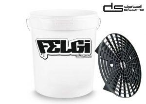 Wiadro detailingowe FELGI 19l - wiadro do mycia + separator brudu