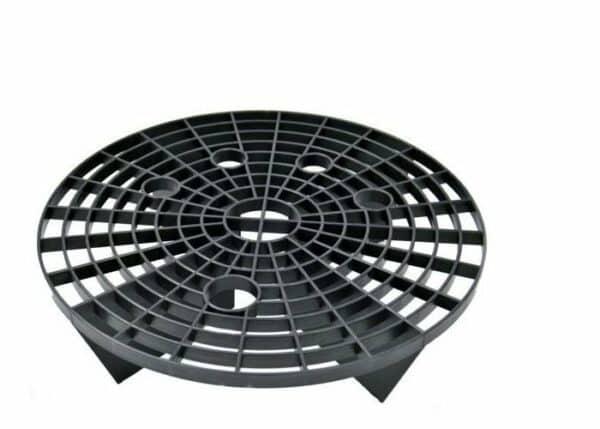 Work-Stuff-Grit-Shield---czarny-separator-brudu-do-wiadra-Ø26cm,-zatrzymuje-brud-na-dnie-wiadra